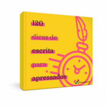 Ebook 120 dicas de escrita para apressadora mockup